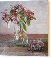 Elderberries 07 Wood Print