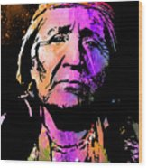 Elderly Hupa Woman Wood Print