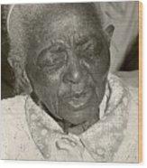Elderly Woman Wood Print