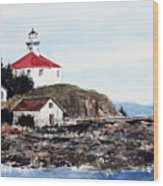 Eldred Rock Lighthouse Wood Print