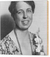 Eleanor Roosevelt 1884-1962 In July Wood Print by Everett