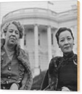 Eleanor Roosevelt And Madame Chiang Wood Print by Everett