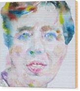 Eleanor Roosevelt - Watercolor Portrait Wood Print