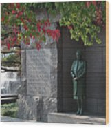 Eleanor's Alcove At The Fdr Memorial In Washington Dc Wood Print