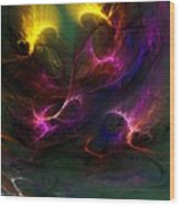 Electric Abstract 052510 Wood Print