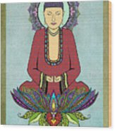 Electric Buddha Wood Print