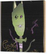 Electric Cat Wood Print