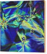 Electric Cellophane Wood Print