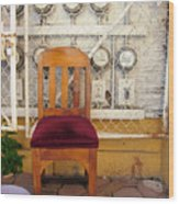 Electric Chair Wood Print