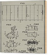 Electric Football Patent 1955 Aged Gray Wood Print