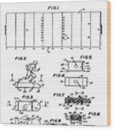 Electric Football Patent 1955 Wood Print