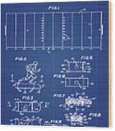 Electric Football Patent 1955 Blueprint Wood Print
