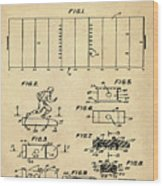 Electric Football Patent 1955 Sepia Wood Print