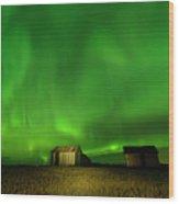 Electric Green Skies Wood Print