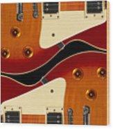 Electric Guitar II Wood Print by Mike McGlothlen