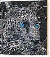 Electric Leopard Wood Print