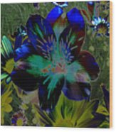 Electric Lily Wood Print