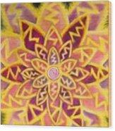 Electric Lotus Wood Print