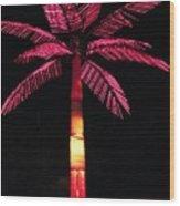 Electric Palm Wood Print
