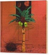 Electric Palm Tree Wood Print