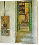 Electric Panel Of The Ceramic Laboratory Wood Print