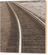 Electric Rails Wood Print