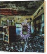 Electric Shock On Abandoned Hotel On Liguria Mountains - Pericolo Di Scossa Nell'hotel Abbandonato Wood Print