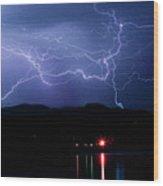 Electric Skies  Wood Print