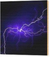 Electric Sky Wood Print