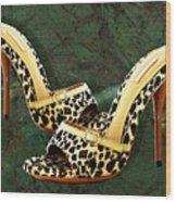 Electric Slide In Leopard Wood Print