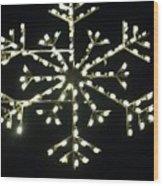 Electric Snowflake Wood Print