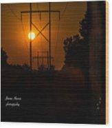 Electric Sunset Wood Print