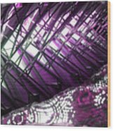 Electric Violet Fish Wood Print