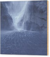 Electric Water - Milford Sound Wood Print