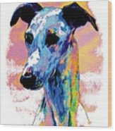 Electric Whippet Wood Print