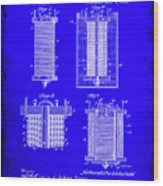 Electrical Battery Patent Drawing 1e Wood Print