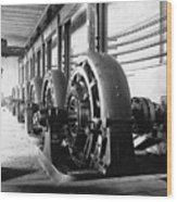 Electrical Generators In Edison Sault Wood Print by Everett