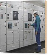 Electrical Panel Board Manufacturers Wood Print