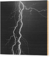 Electrical Pulsation-signed-#039 Wood Print