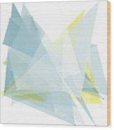 Electricity Polygon Pattern Wood Print