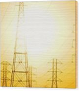 Electricity Towers Wood Print