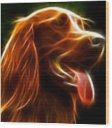 Electrifying Dog Portrait Wood Print