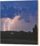 Electrifying Southern Davidson County Wood Print