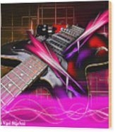 Electro Guitar Wood Print