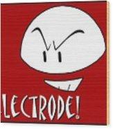 Electrode Wood Print