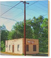 Electromagnetic Motel Wood Print