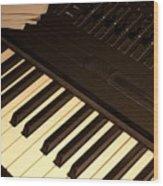 Electronic Keyboard Wood Print