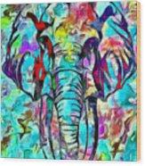 Elefante Wood Print