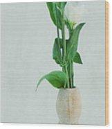 Elegant Lisianthus Wood Print