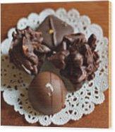 Elegant Chocolate Truffles Wood Print by Louise Heusinkveld